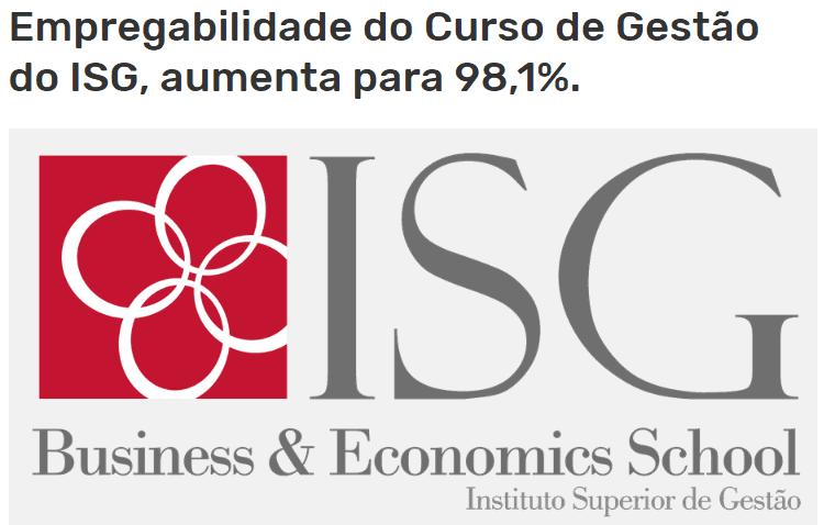 98.1% é o número que dá o recorde ao Instituto Superior de Gestão!