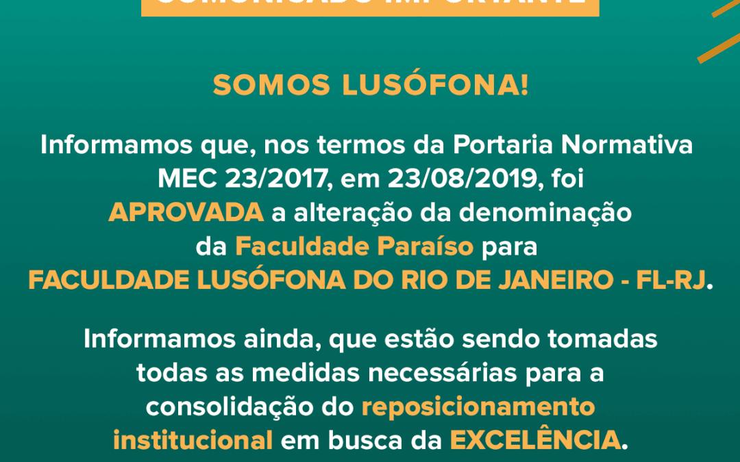 FACULDADE LUSÓFONA DO RIO DE JANEIRO