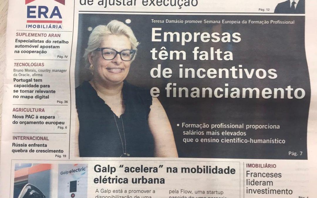Entrevista da Administradora do GrupoEnsinus no Jornal Vida Económica