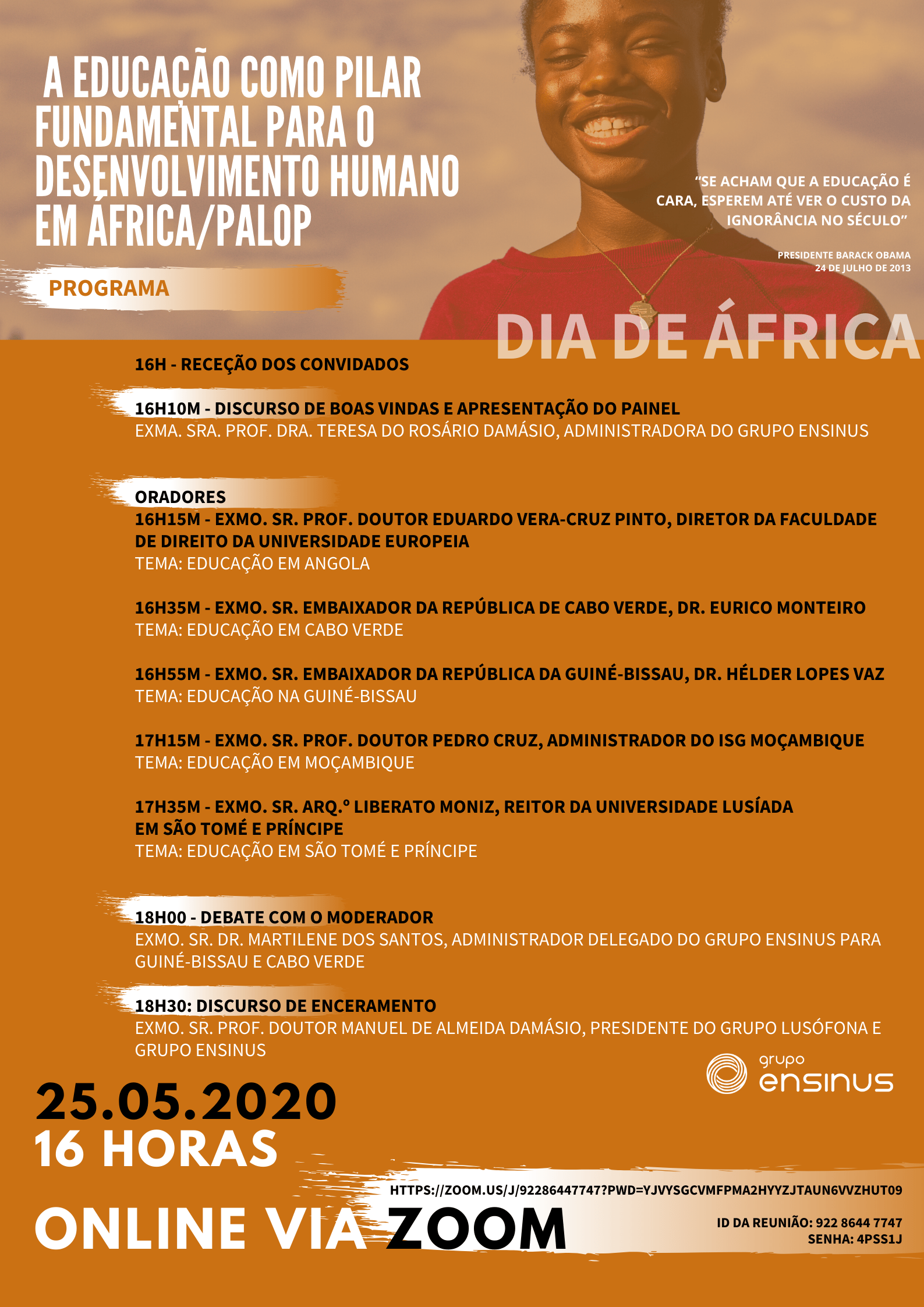 GRUPO ENSINUS CELEBRA DIA DE ÁFRICA