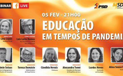 """Webinar: """"Educação em Tempos de Pandemia"""""""