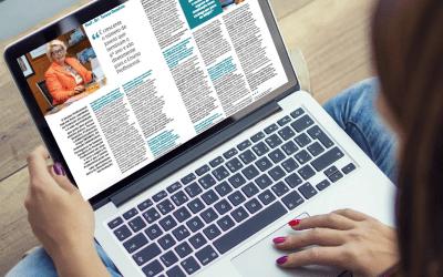 Senhora Administradora do Grupo Ensinus, Dra. Teresa do Rosário Damásio, na revista Mais Educativa