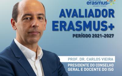 Prof. Dr. Carlos Vieira como Avaliador Erasmus+