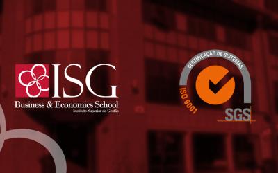 ISG garante Certificado de Qualidade